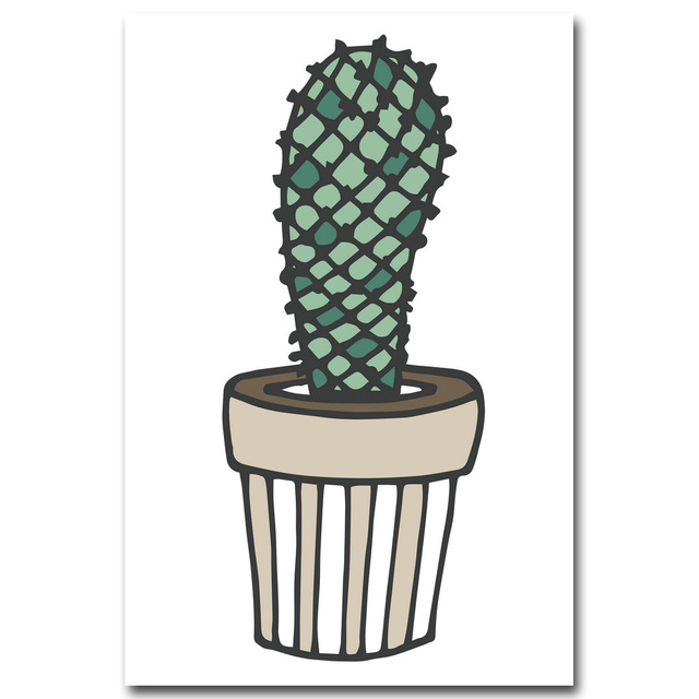 Nordic-Art-Plant-Cactus-Canvas-Poster-Painting-Modern-Nursery-A4-Wall-Picture-Children-Kids-Room-Decoration.jpg_640x640