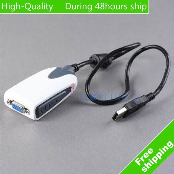 High quality USB 2.0 To VGA Multi-Display Adapter Converter,USB to VGA Adapter Cable<br>