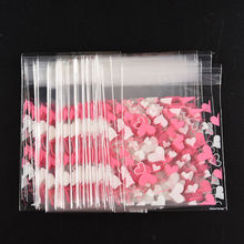 100pcs Heart Printing Cookies Bag Office Supplies Food Snack Storage Bags Candy Pouch Accessories
