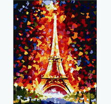 DIY digital oil painting hand painted picture by numbers abstract paris home decoration christmas gift family entertainment(China)