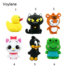 Voylane mini pen drive cartoon frog duck gift pen drive 8gb 16gb 32gb 64gb keychain cartoon tiger cat usb flash drive pendrive