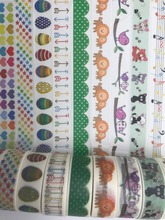 jiataihe washi tape Eggs, waves sea,HELLO! lion birdmasking sun butterfly masking washi tape office adhesive tape label DIY