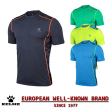 KELME Official Authentic Spain Mens Running Tracksuit Short Sleeve Fitness Jogging Base Layer Jerseys Crossfit Tight Shirts 08