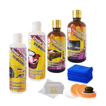 Scratch de réparation de voiture pâte à polir et nano céramique de voiture revêtement plus hydrophobe nano revêtement de verre et rapide de voiture cire pâte