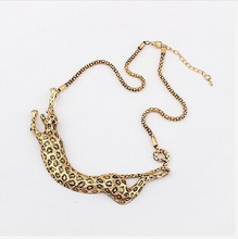Ahmed Jewelry Wholesale Price 2014 Newest Jewelry European Fashion Style Exaggerated Metal The New Leopard Necklaces S-049