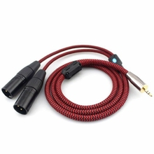 3.5mm Mini Jack to 2 XLR 3 Pin Microphone Cable Hifi PC Headphone Mixer Speaker 3.5 XLR Audio Cable Braided OFC 1M 2M 3M 5M 8M