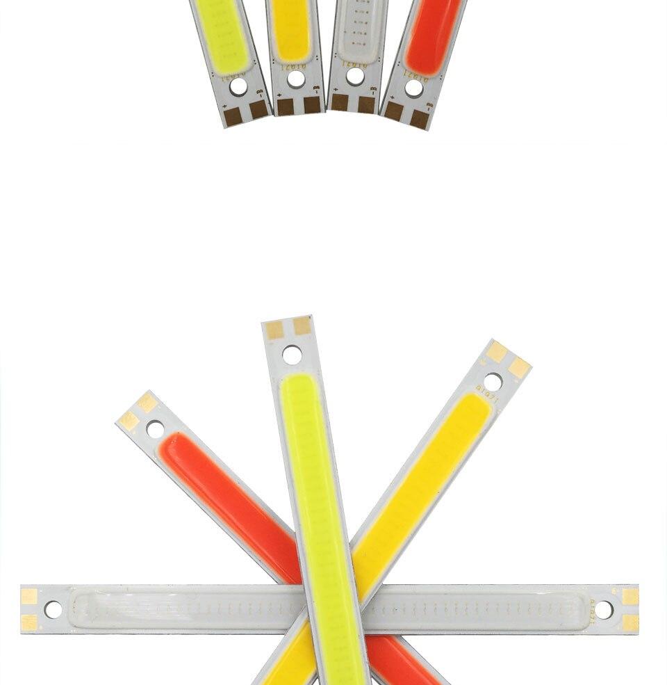 120mm 12v 10w 1000LM cob led light strip chip bulb lamp red blue white (3)