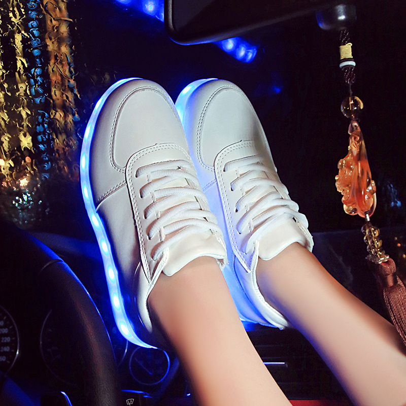 New 2016 Fashion Light Up Shoes Femme Luminous Women Shoes Led For Adults Schoenen men Casual Chaussures Lumineuse 9869<br><br>Aliexpress