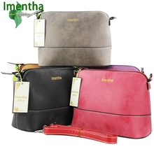 dumping ! fashion women shoulder bags female ladies hand bags sac a main bolsos vintage bolsa feminina black red female bag(China)