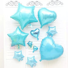 Buy 5pcs/lot 18inch Tiffany Blue Helium balloons wedding birthday parth Decorations Metallic Ball Baby toy foil ballon supplies for $2.00 in AliExpress store