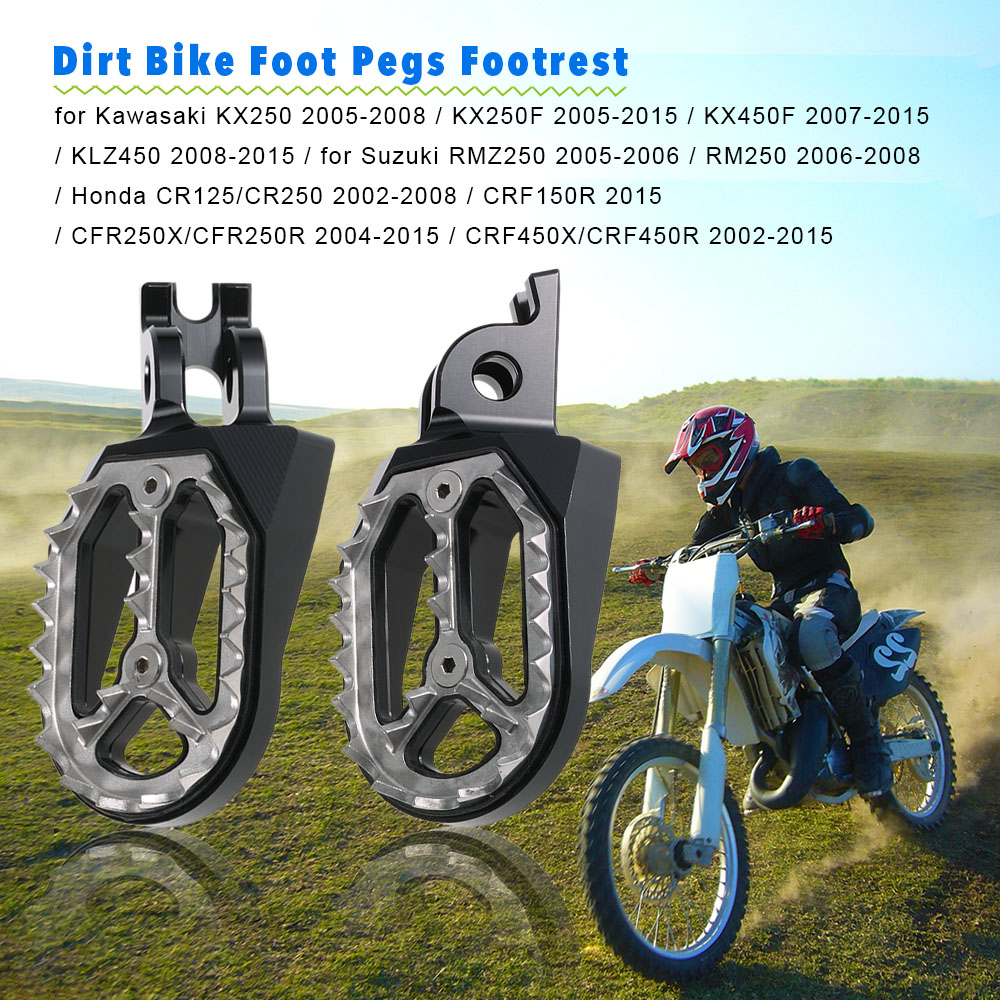 Pair of Motorcycle Dirt Bike Foot Pegs Footrest Foot Rest for Honda CR125/CR250 / CRF150R / CFR250X/CFR250R / CRF450X/CRF450R<br>
