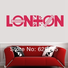 Wholesale London britpop wall decoration stickers family wall decal decorative stickers vinyl wall art decals quote poster c2004(China)