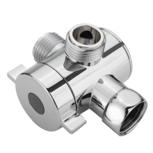 "1Pc 1/2"" 3-Way T-adapter Valve Adjustable Shower Head Arm Mounted Diverter Valve For Bathroom Accessories"