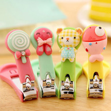 Candy Color Nail Clippers Cartoon Animal Flower Fruit Parrern Clippers Household daily Nail Cutter Clipper Trimmer Scissor(China)