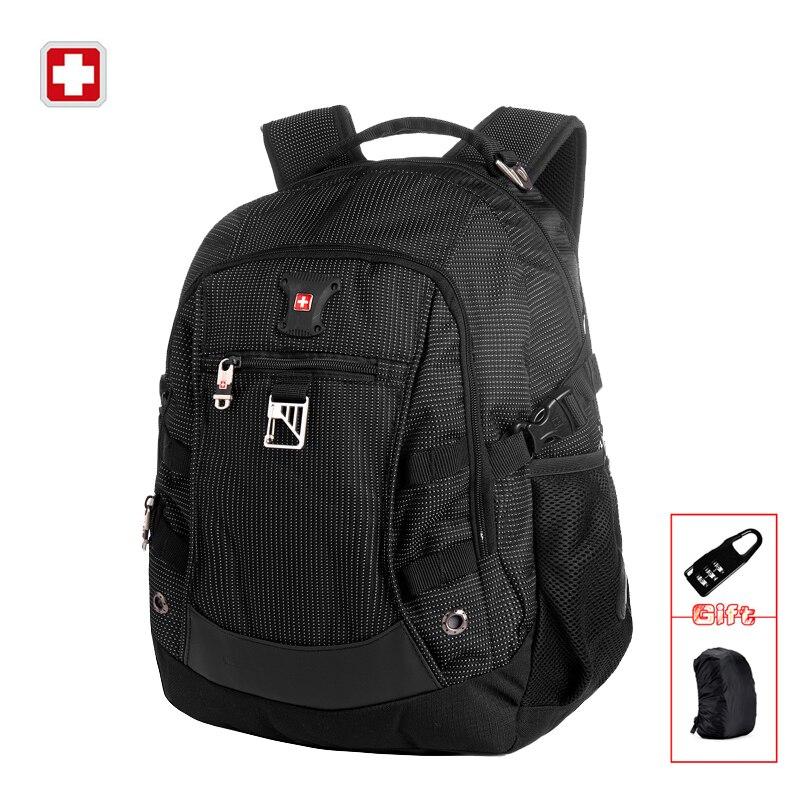 Brand Men Backpack Bag Classic Black Business Travel Backpack School Backpack for Teenagers Waterproof Laptop Backpack SW9218<br>