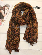 Fashion Design Popular Lady Cotton Sexy Leopard Print Coffee Oversized Women Long Leopard Scarf Scarves High Quality For You!