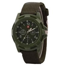 Buy Watch Men olider Military Army Green Dial Army Sport Style Nylon Band Quartz Wrist Watch Horloges Mannen for $1.01 in AliExpress store