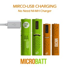 2PCS Mirco USB Rechargeable Battery Dry Battery 1000mAh AAA 1.2V DToys Remote-controller batteries