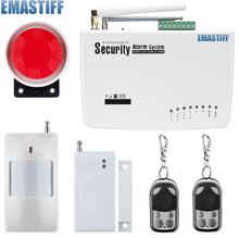 Promotion for Russian/English Voice Wireless GSM Alarm System Dual Antenna Alarm Systems Security Home Alarm with PIR detector(China)