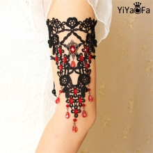 YiYaoFa DIY Gothic Jewelry Lace Arm Accessories Women Arm Bangles Handmade Summer Fashion Girl Party Jewelry AT-65