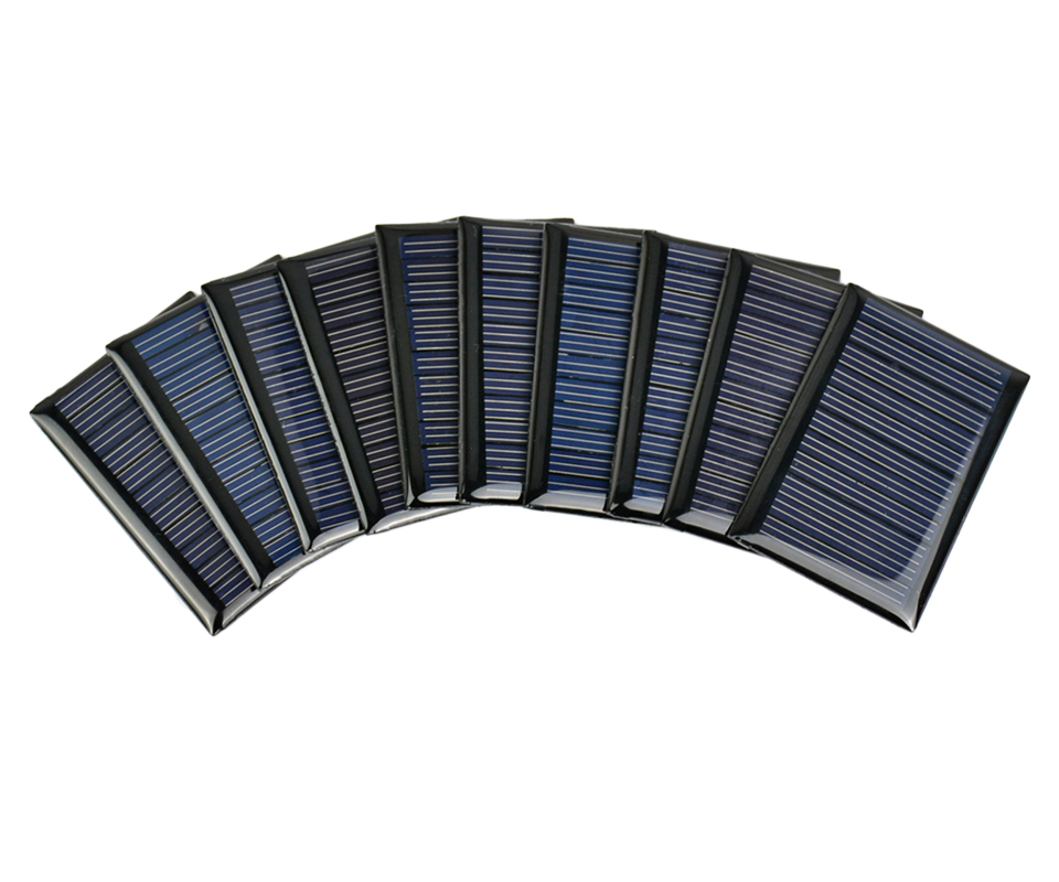 Aoshike 10Pcs Solar Panels Polycrystalline Silicon Flexible Solar Power Charger 5.5V 0.22W 54.5x38mm DIY Portable Solar cells 7
