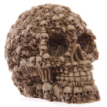 1Piece Homosapiens Skull Statue Figurine Human Shaped Skeleton Head Medical Demon Ghost Evil Multiple Samhain