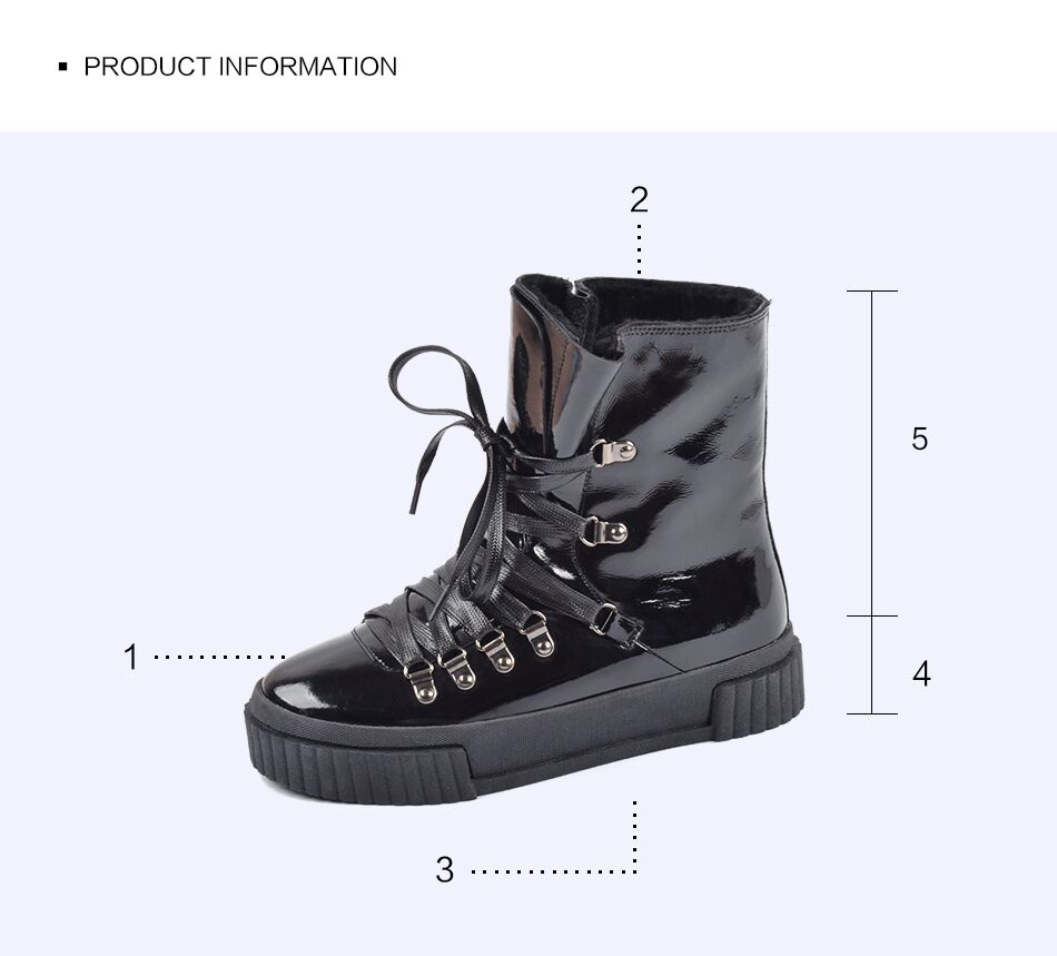 Donna-in 2018 Fashion Winter Ankle Boots Women Leather Platform High Heel Lace Up Short Pulsh Warm Female Boots Ladies Shoes (14)