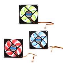 90mm LED Light 3pin PC Desktop Computer Case Cooling Cooler Fan Low Noise 9025