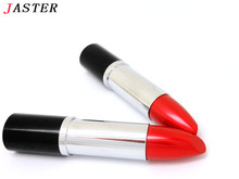 JASTER metal jewelry lipstick USB Flash Drive original memory stick hot sale cartoon pendrive 4GB/8GB/16GB/32GB