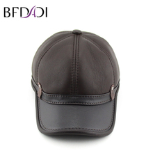 BFDADI Winter Imitation Sheepskin Baseball Cap Biker Trucker Sports Snapback Hats For Men Hats Warm Caps Big Size Brown(China)