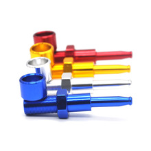 New Model Screw  Metal Smoking Pipes Cigarette Pipe Gift Smoke Sets  Distribution  Color Random