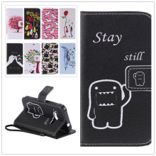 Brand New Flip Painted PU Leather Phone Cover For Samsung Galaxy Xcover 3 G388F Wallet Stand Card Slots Magnetic Clasp Cases