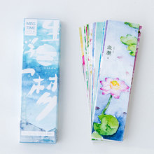 30pcs/box China ancient scenery paper bookmark book holder message card kids stationery zakka school supplie papelaria