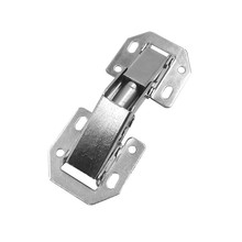 NAIERDI-A99 90 Degree 3 Inch No-Drilling Hole Cabinet Bridge Shaped Spring Frog Hinge Full Overlay Cupboard Door Hinges 2Pcs