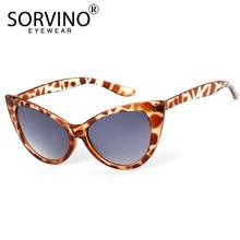 SORVINO Leopardo Clássico Do Vintage Do Olho de Gato Óculos De Sol 2018 Das  Mulheres de Grandes Dimensões Senhoras Skinny Preto . 23b1cdd248