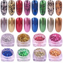 1 Box Mirror Glitter Silver Gold etc Colors Nail Flakes Bling Nail Sequins Shinning Nail Art Glitter Powder Paillette Decoration