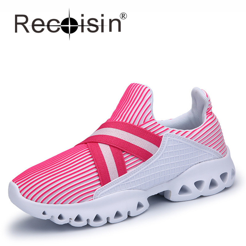 RECOISIN Brand New 2017 Spring New Fashion Women Shoes Breathable Outdoor Women Trainers Flat Shoes Zapatillas Deportivas Mujer<br><br>Aliexpress