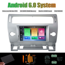 Android 6.0 Octa-core CAR DVD PLAYER for CITROEN C4 2004-2012 AUTO Radio RDS WIFI 2G RAM 32G Inand Flash(China)