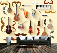 Custom photo 3d wallpaper Non-woven mural creative arts instruments decoration painting 3d wall murals wallpaper for living room