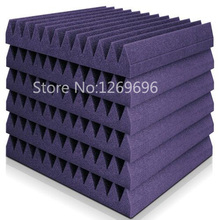Professional 12T Acoustic Soundproofing Studio Wall Panel Foam Purple Wedge Sound Insulation Foam Made in China(China)