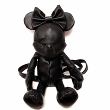 New Women minnie black cartoon mickey mouse Pu leather backpack cute lovely girl ladies daypack Girls Bag Female Backpacks