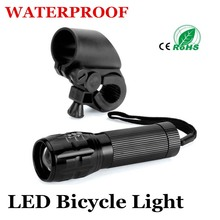 Bicycle Flashlight LED Torch Light 7 Watt 2000 Lumens 3 Mode CREE Q5 LED Bike Light Front Torch Waterproof + Torch Holder