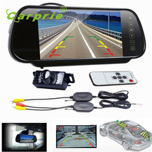 Auto 7 LCD Mirror Monitor +Wireless Car Reverse Rear View Backup Camera Night Vision Dec30