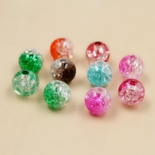 New Arrival Approx 8mm 30g/lot Mixed Color Acrylic Round Beads For DIY Bracelet Jewelry BSD057-99(China)