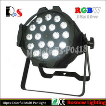 24pcs/lot LED Multipar 18x10W RGBW 4 in 1 / LED DJ Par64 lightings