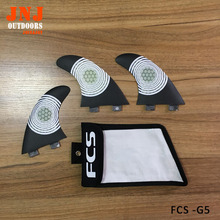 perfect fittable surfboard fins carbon FCS base G5 M thruster fin made of carbon fiber with a bag(China)