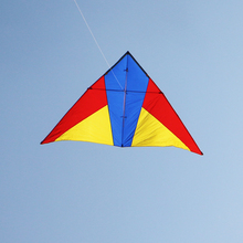free shipping breeze wind fly 3sq.m delta kite with kite string reel line chinese kite flying cometa kites for adults weikite