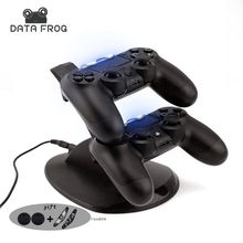 for Sony PS4 Charger Station Stand with Charge Cable for Playstation 4 PS4 Dual Charge Dock for PS4 Controller Charging Base LED(China)