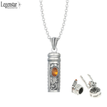 Legenstar Perfume Bottle Pendant Necklace Memorial Ash Keepsake with Birthstones Diffuser Locket Lover Necklace for Women Gift(China)