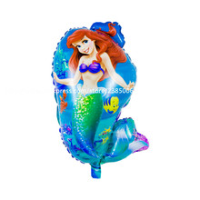 10pcs/lot 69*41cm Mermaid Foil Balloons Character Air Balloons Inflatable ariel little mermaid mylar Globos(China)